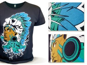 Печать на футболках, цифровая прямая печать на футболках, печать на черных футболках, печать на цветных футболках.