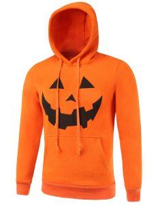Толстовка с карманами и капюшоном оранжевая, Печать на футболках и толстовках термопленками Flex и Flock,